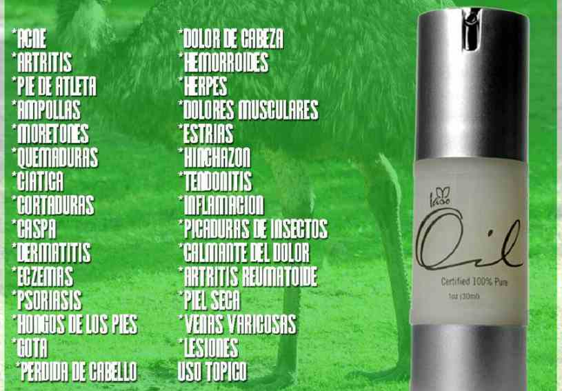 Aceite de Emú - Beneficios del Aceite de Emú