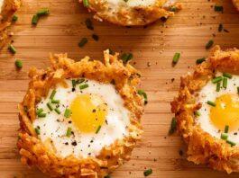 Nido de Patatas Fritas con Chistorra y Huevo de Codorniz